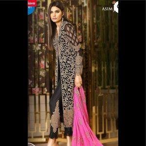 Indian pAkistani Embroidered chiffon dress